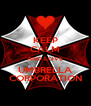 KEEP CALM AND LOVE UMBRELLA CORPORATION - Personalised Poster A4 size