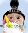 KEEP CALM AND LOVE UNICORNS - Personalised Poster A4 size