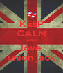 KEEP CALM AND love union jack - Personalised Poster A4 size