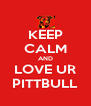 KEEP CALM AND LOVE UR PITTBULL - Personalised Poster A4 size