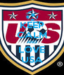 KEEP CALM AND LOVE USA - Personalised Poster A4 size