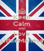Keep Calm AND Love UthieMahesa - Personalised Poster A4 size