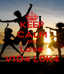 KEEP CALM AND Love V1D4 L0K4 - Personalised Poster A4 size