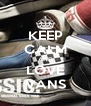 KEEP CALM AND LOVE VANS - Personalised Poster A4 size
