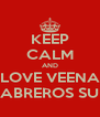 KEEP CALM AND LOVE VEENA CABREROS SUD - Personalised Poster A4 size
