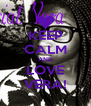 KEEP CALM AND LOVE VERA! - Personalised Poster A4 size