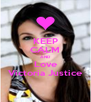 KEEP CALM AND Love Victoria Justice - Personalised Poster A4 size