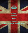 KEEP CALM AND  LOVE  VICTORIA SPINK XX - Personalised Poster A4 size