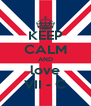 KEEP CALM AND love VII - C - Personalised Poster A4 size