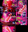 KEEP CALM AND love vimto - Personalised Poster A4 size