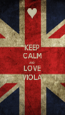 KEEP CALM AND LOVE VIOLA - Personalised Poster A4 size