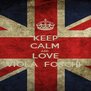 KEEP CALM AND LOVE VIOLA  FOSCHI  - Personalised Poster A4 size