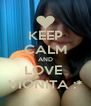 KEEP CALM AND LOVE  VIONITA :* - Personalised Poster A4 size