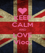 KEEP CALM AND LOVE Vioo. - Personalised Poster A4 size