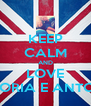 KEEP CALM AND LOVE VITTORIA E ANTONIO - Personalised Poster A4 size