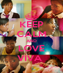 KEEP CALM AND LOVE VIVA  - Personalised Poster A4 size