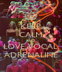 KEEP CALM AND LOVE VOCAL ADRENALINE - Personalised Poster A4 size