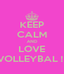 KEEP CALM AND LOVE VOLLEYBAL !  - Personalised Poster A4 size