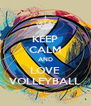 KEEP CALM AND LOVE VOLLEYBALL - Personalised Poster A4 size
