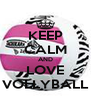 KEEP CALM AND LOVE VOLLYBALL - Personalised Poster A4 size