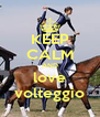 KEEP CALM AND love volteggio - Personalised Poster A4 size
