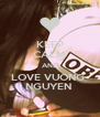 KEEP CALM AND LOVE VUONG  NGUYEN  - Personalised Poster A4 size