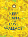 KEEP CALM AND LOVE WALLACE  - Personalised Poster A4 size