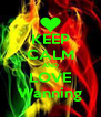 KEEP CALM AND LOVE Wanning - Personalised Poster A4 size