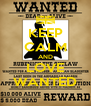 KEEP CALM AND LOVE WANTED - Personalised Poster A4 size