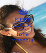 KEEP CALM AND love waseela - Personalised Poster A4 size