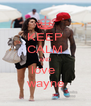 KEEP CALM AND love  wayne - Personalised Poster A4 size