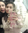 KEEP CALM AND LOVE WE BEST FRIEND - Personalised Poster A4 size