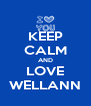 KEEP CALM AND LOVE WELLANN - Personalised Poster A4 size