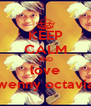 KEEP CALM AND love wenny octavia - Personalised Poster A4 size