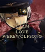 KEEP CALM AND LOVE WEREWOLFSONG - Personalised Poster A4 size