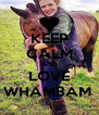 KEEP CALM AND LOVE WHAMBAM  - Personalised Poster A4 size