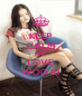 KEEP CALM AND LOVE WOO RI - Personalised Poster A4 size