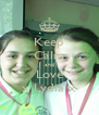 Keep Calm and Love x Lydia x - Personalised Poster A4 size