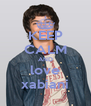 KEEP CALM AND love xabiani - Personalised Poster A4 size