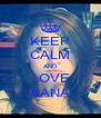 KEEP CALM AND LOVE XANA - Personalised Poster A4 size