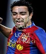 KEEP CALM AND LOVE Xavi Kuci  - Personalised Poster A4 size