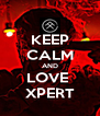 KEEP CALM AND LOVE  XPERT - Personalised Poster A4 size