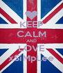 KEEP CALM AND LOVE xSiMpLee - Personalised Poster A4 size