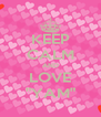 "KEEP CALM AND LOVE ""YAM"" - Personalised Poster A4 size"