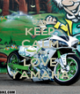 KEEP CALM AND LOVE YAMAHA - Personalised Poster A4 size