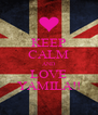KEEP CALM AND LOVE YAMILA!! - Personalised Poster A4 size