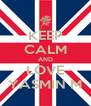 KEEP CALM AND LOVE YASMIN M - Personalised Poster A4 size