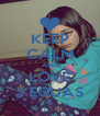 KEEP CALM AND LOVE YEGUAS - Personalised Poster A4 size