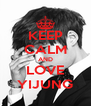 KEEP CALM AND LOVE YIJUNG - Personalised Poster A4 size