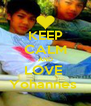 KEEP CALM AND LOVE  Yohannes  - Personalised Poster A4 size